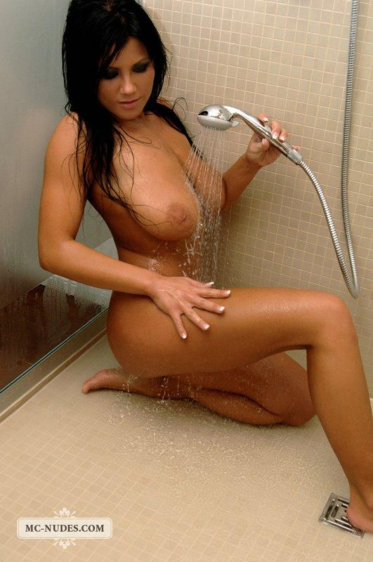 Brunette with pretty face and big tits - 12