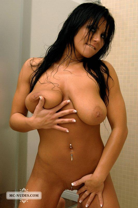 Brunette with pretty face and big tits - 6