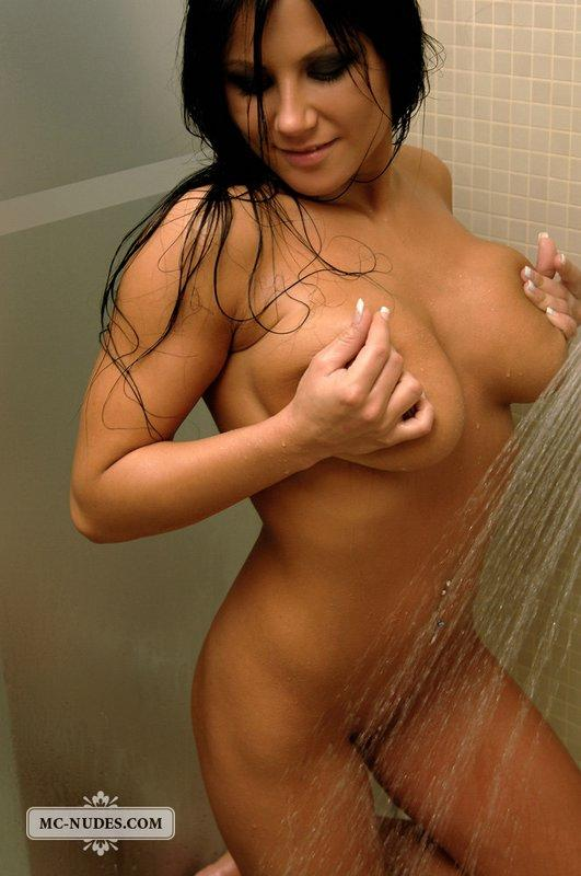 Brunette with pretty face and big tits - 8