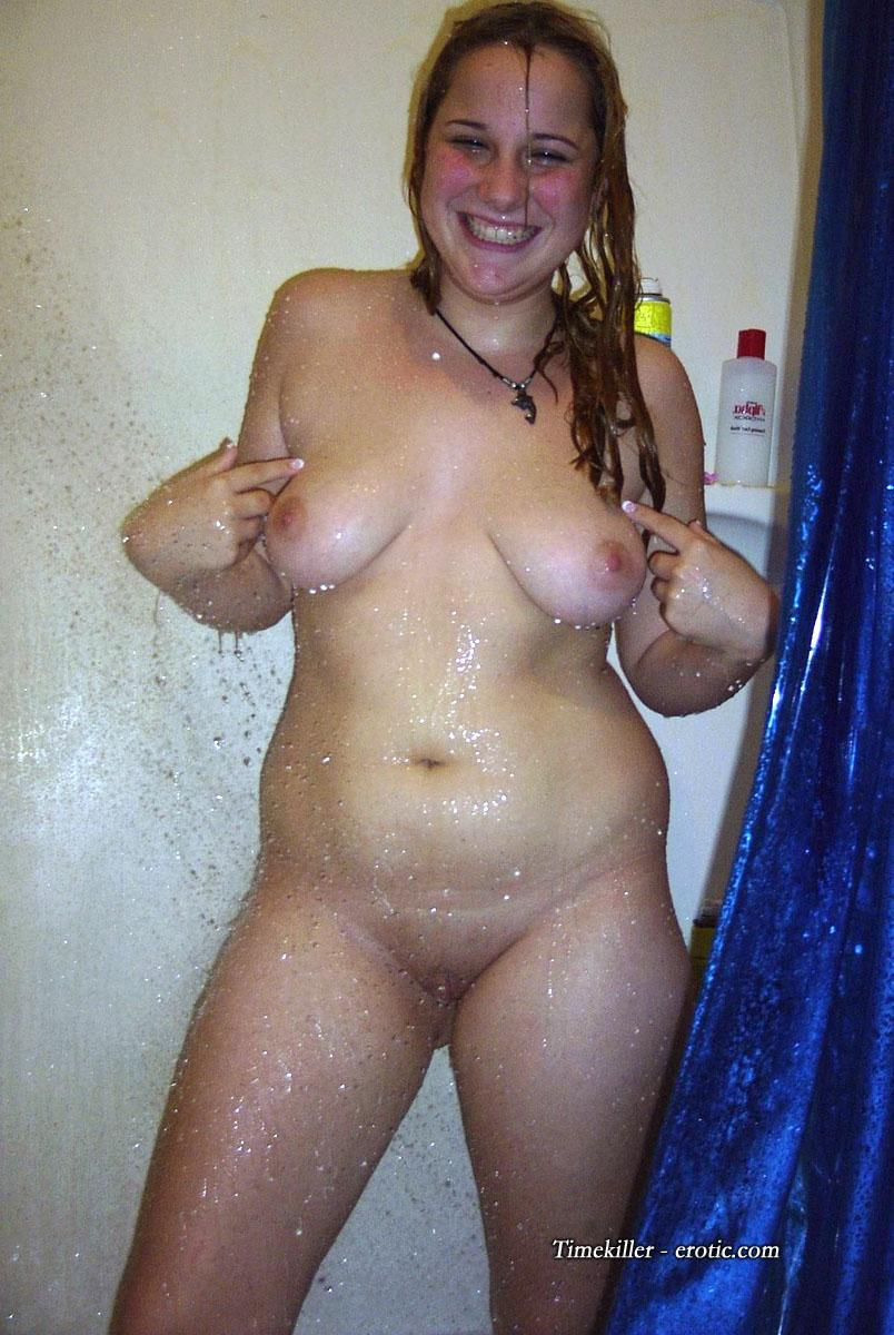 Young amateur girls take a shower  - 18