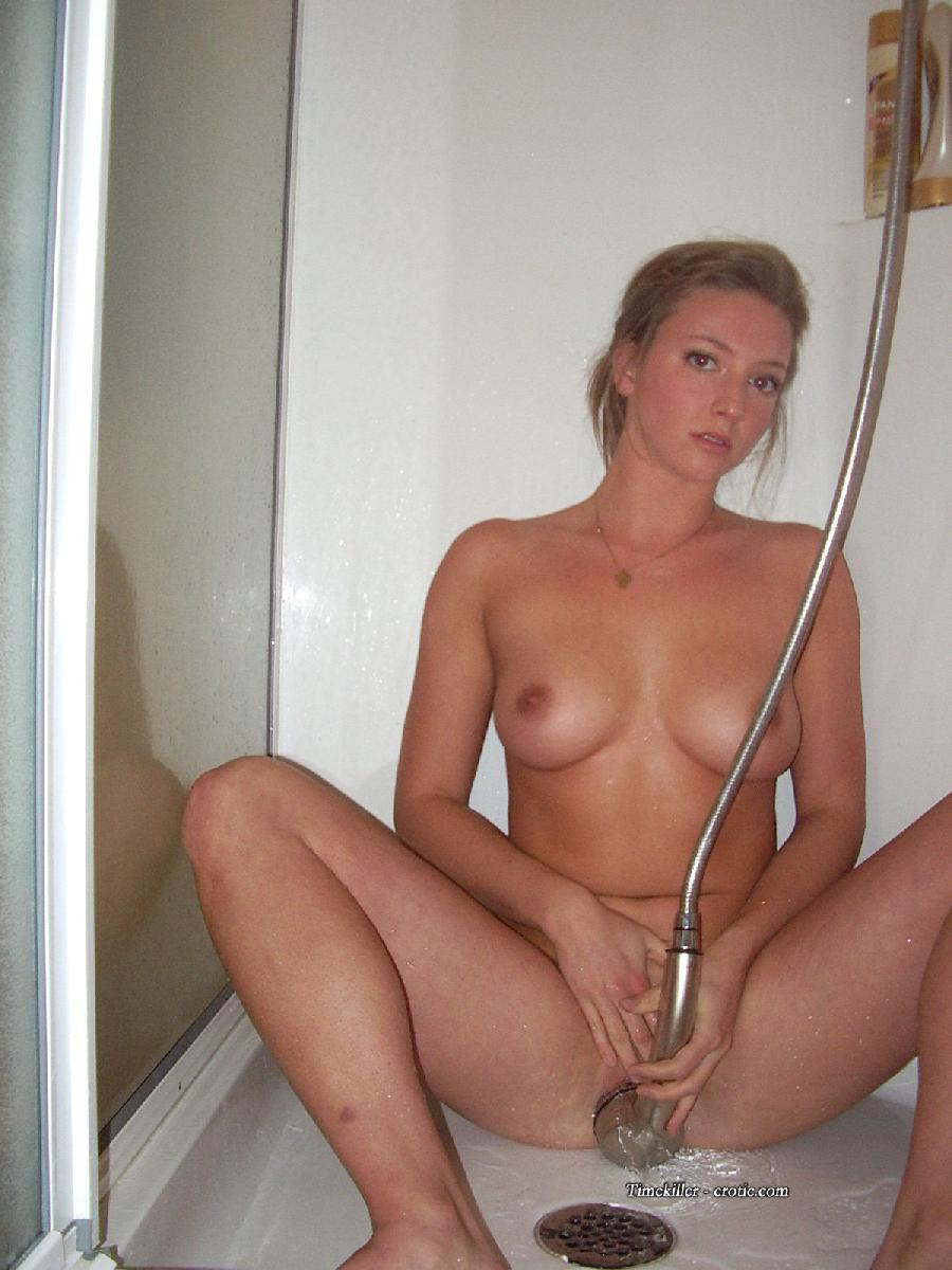 Young amateur girls take a shower  - 20