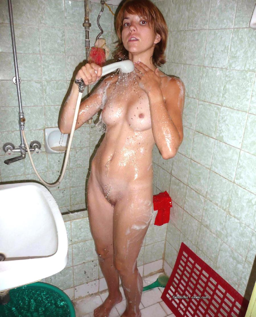 Young amateur girls take a shower  - 21