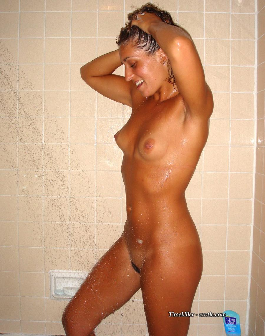 Young amateur girls take a shower  - 27