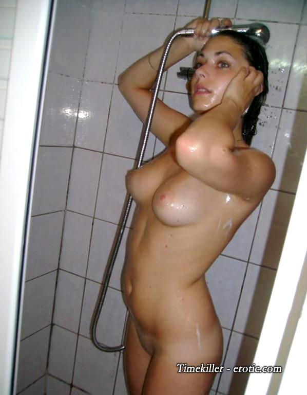 Young amateur girls take a shower  - 7