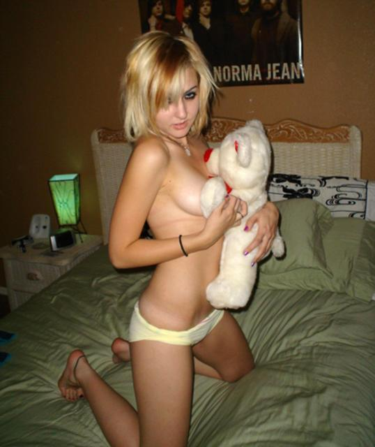 Naked amateurs with mascots - 14