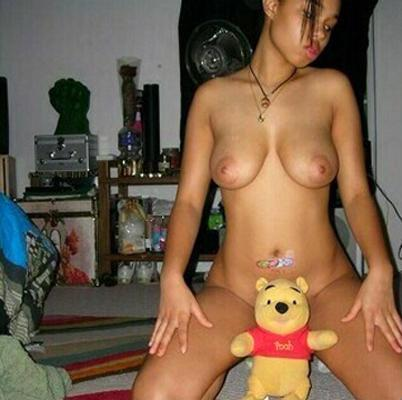 Naked amateurs with mascots - 19