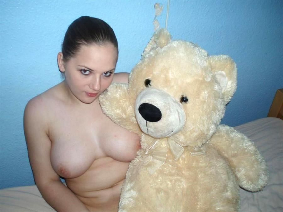 Naked amateurs with mascots - 20