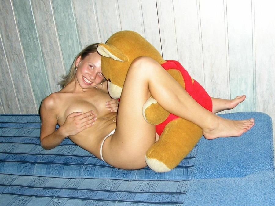 Naked amateurs with mascots - 5