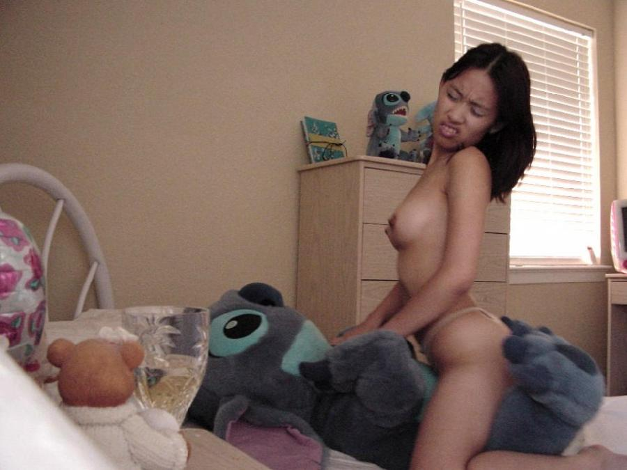 Naked amateurs with mascots - 6