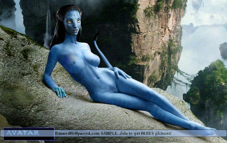 Naked avatar blue girls - 1