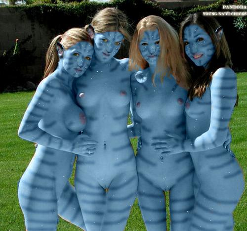 Naked avatar blue girls - 5