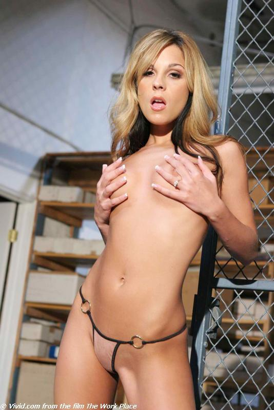 Kirsten Price lean blonde gets nude in warehouse - 5