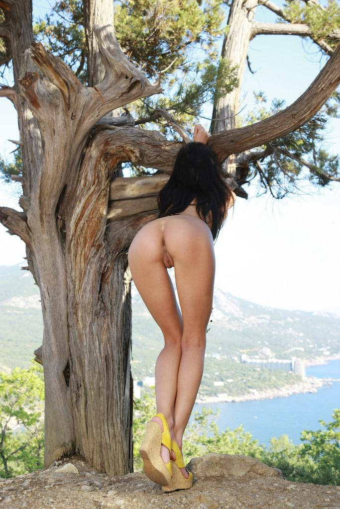 Beautiful brunette and beautiful landscape - Anna - 2