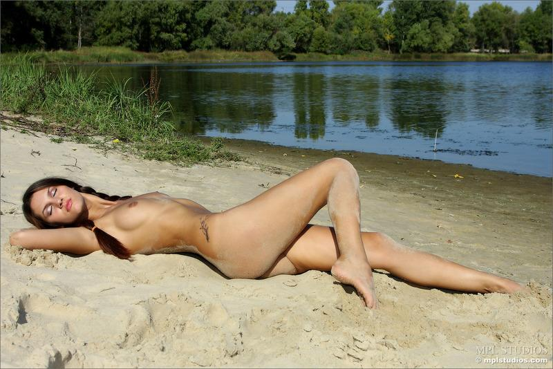 Outdoor nudity in a sunny day at the river - 11