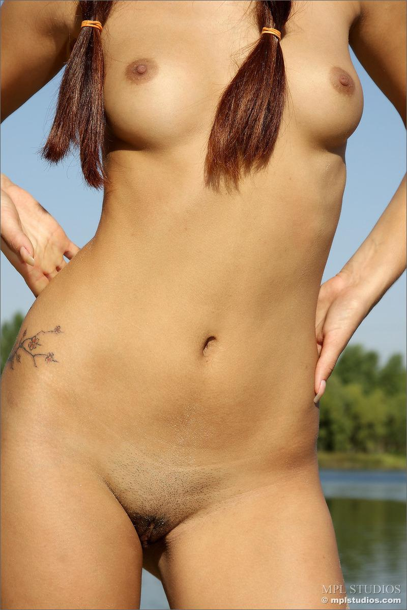 Outdoor nudity in a sunny day at the river - 7