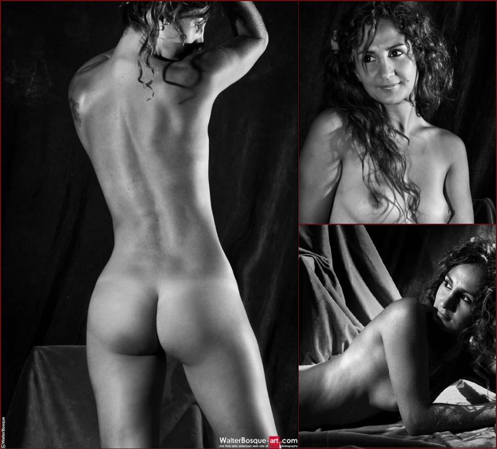 Erotic black and white nudes of a Spanish beauty - 2
