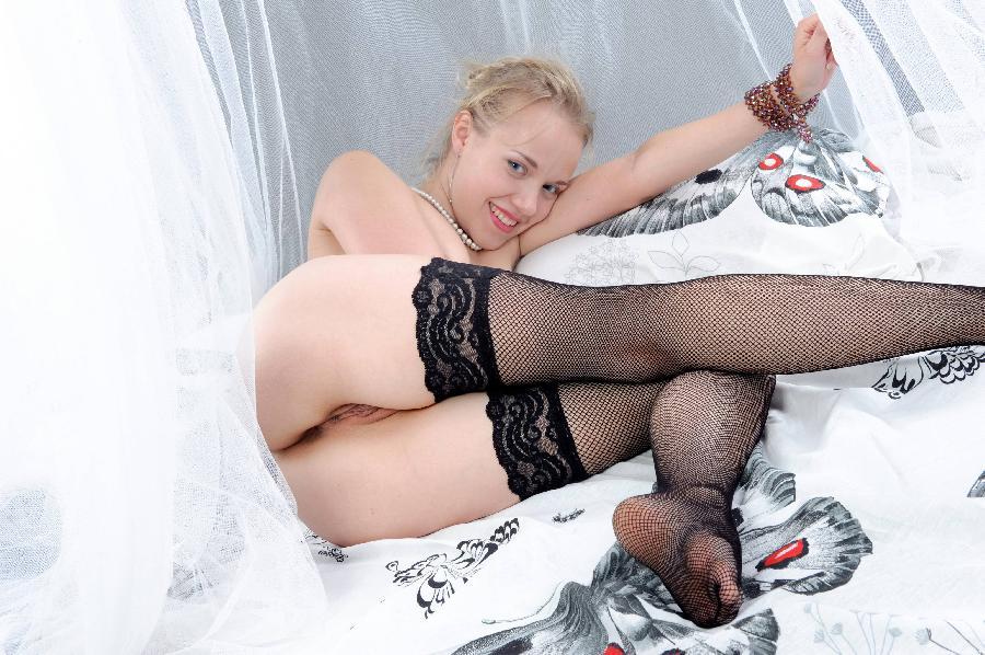 Young Mari in black stockings - 17
