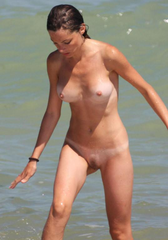 Pretty nudists on the beach - 18