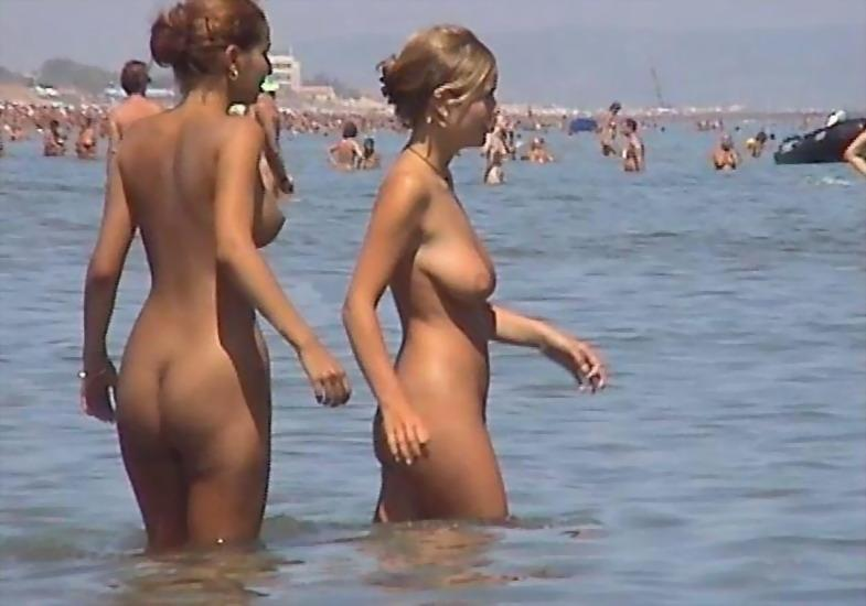 Pretty nudists on the beach - 19