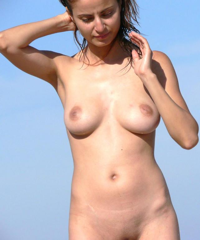 Pretty nudists on the beach - 24