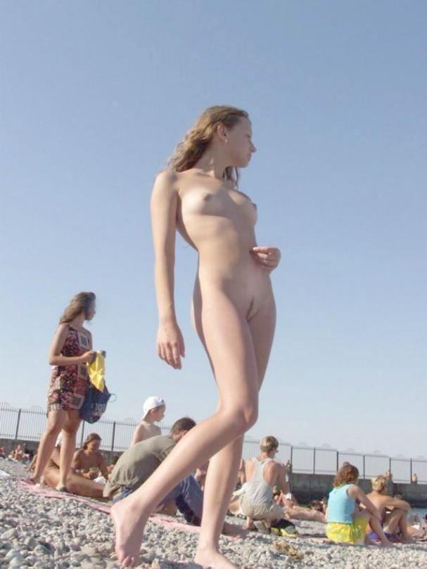 Pretty nudists on the beach - 30