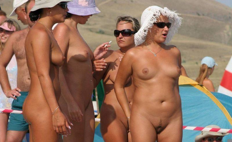 Pretty nudists on the beach - 34
