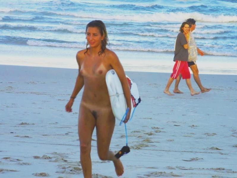 Pretty nudists on the beach - 35