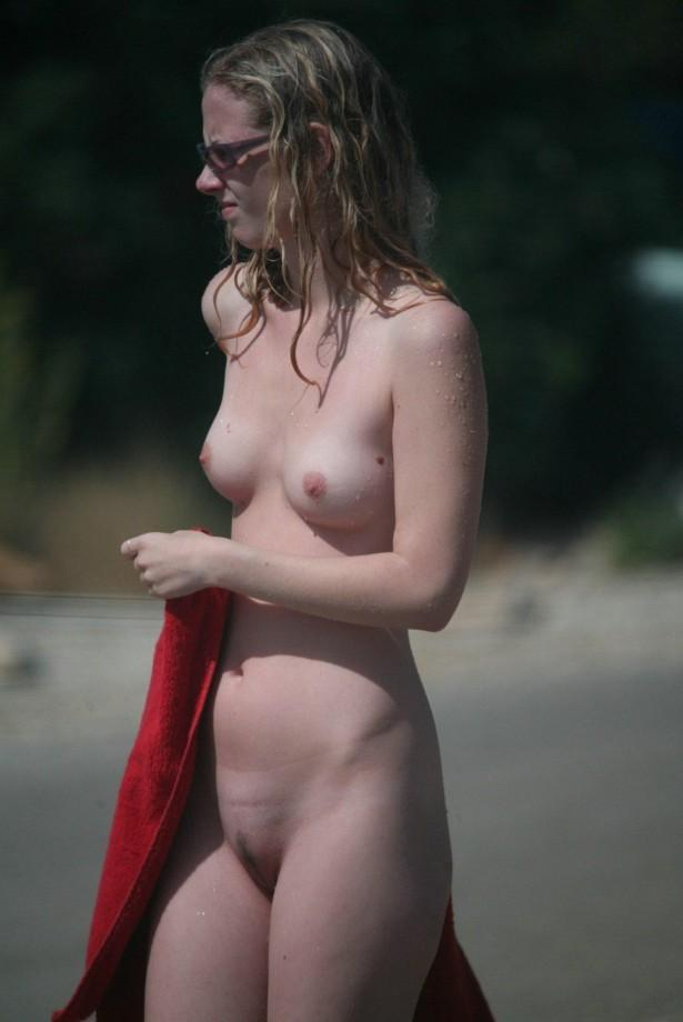 Pretty nudists on the beach - 6