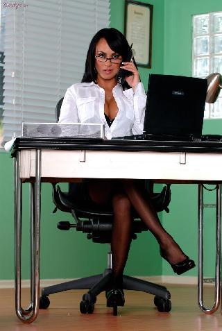 Sexy business woman Mariah Milano