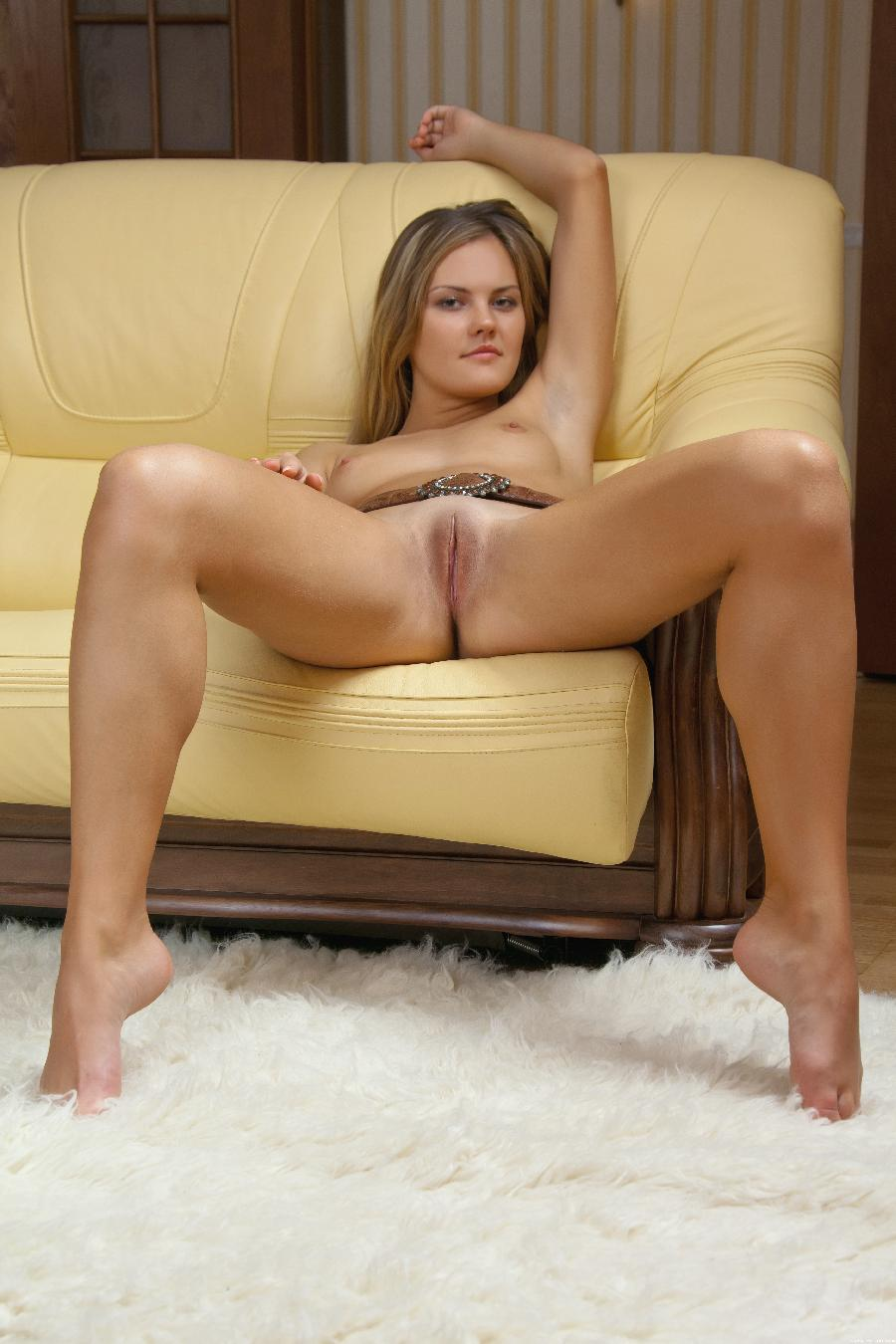 Young Carla sticking out her ass on sofa - 24