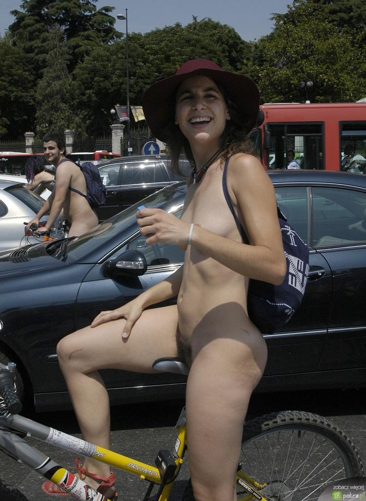 Naked girls on bikes  - 10