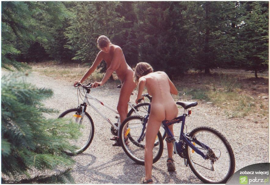 Naked girls on bikes  - 12