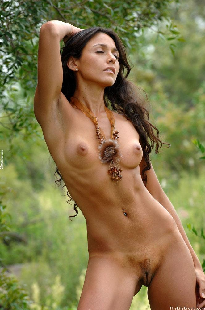 Nude in the jungle
