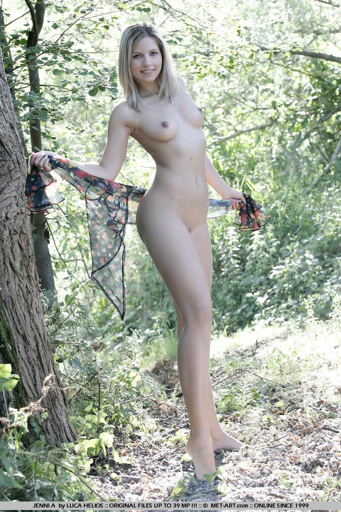 Jenni Gregg nude in the forest  - 11