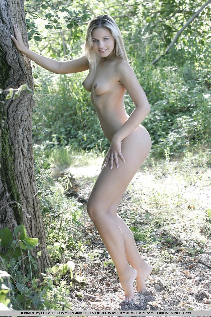 Jenni Gregg nude in the forest  - 12