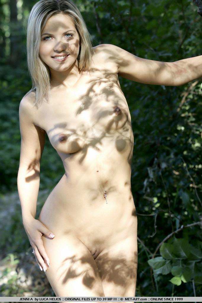 Jenni Gregg nude in the forest  - 13
