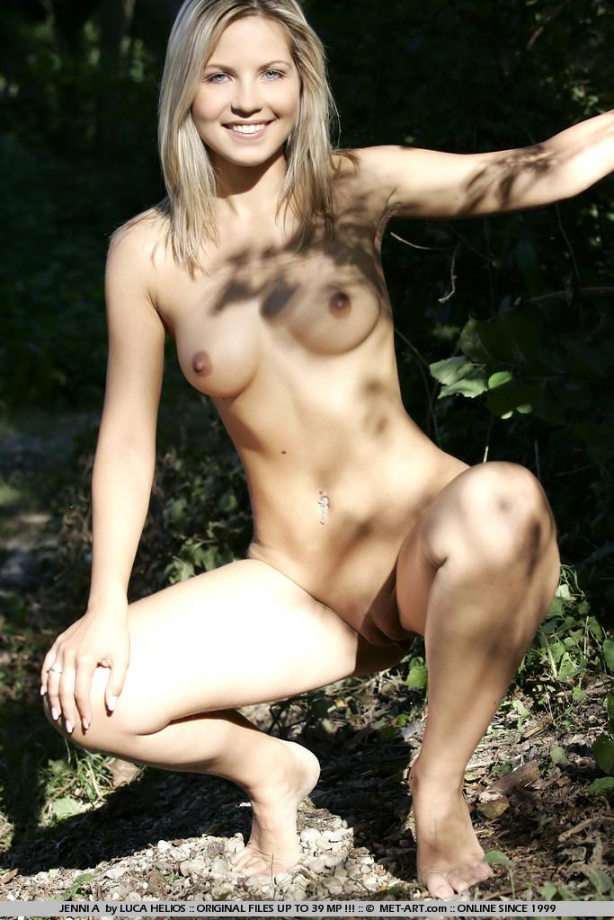 Jenni Gregg nude in the forest  - 14