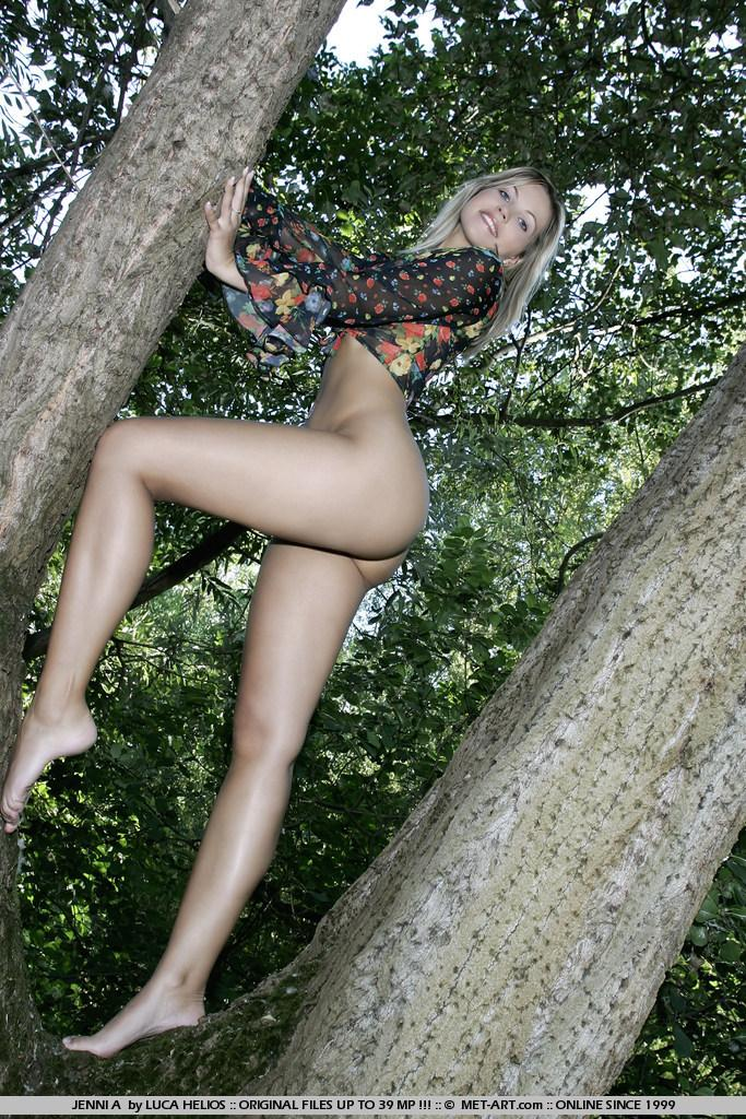 Jenni Gregg nude in the forest  - 2