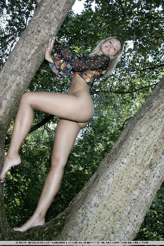 Jenni Gregg nude in the forest