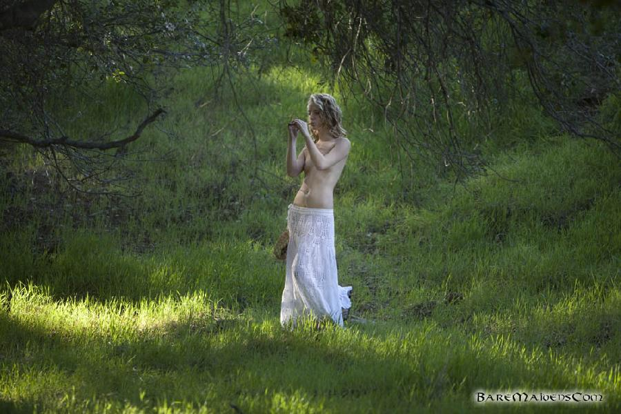 Petite piper Sara James nude in the woods  - 1