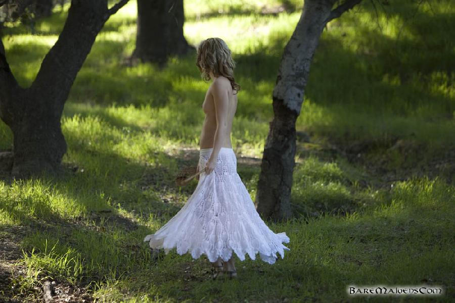 Petite piper Sara James nude in the woods  - 2