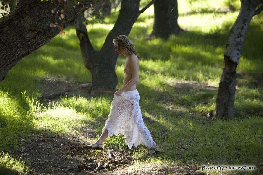 Petite piper Sara James nude in the woods  - 3