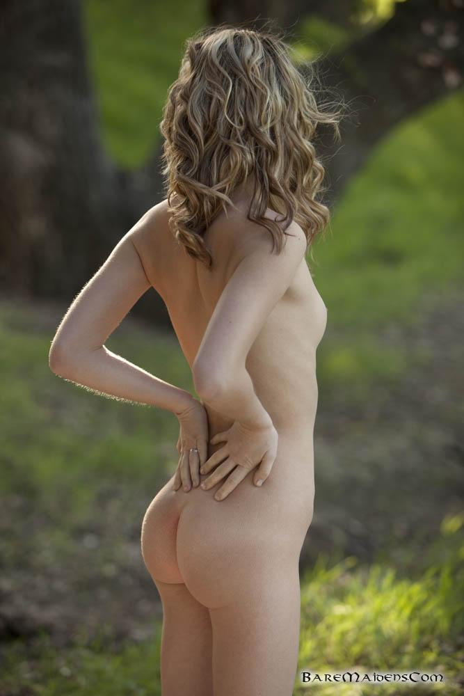 Petite piper Sara James nude in the woods  - 8