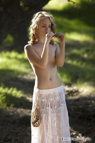 Petite piper Sara James nude in the woods