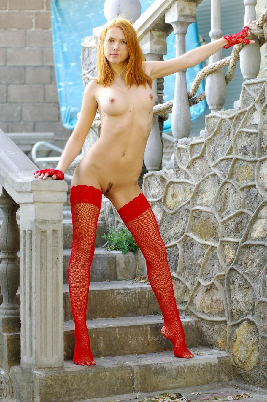 Babein red stockings - Lidiya   - 22
