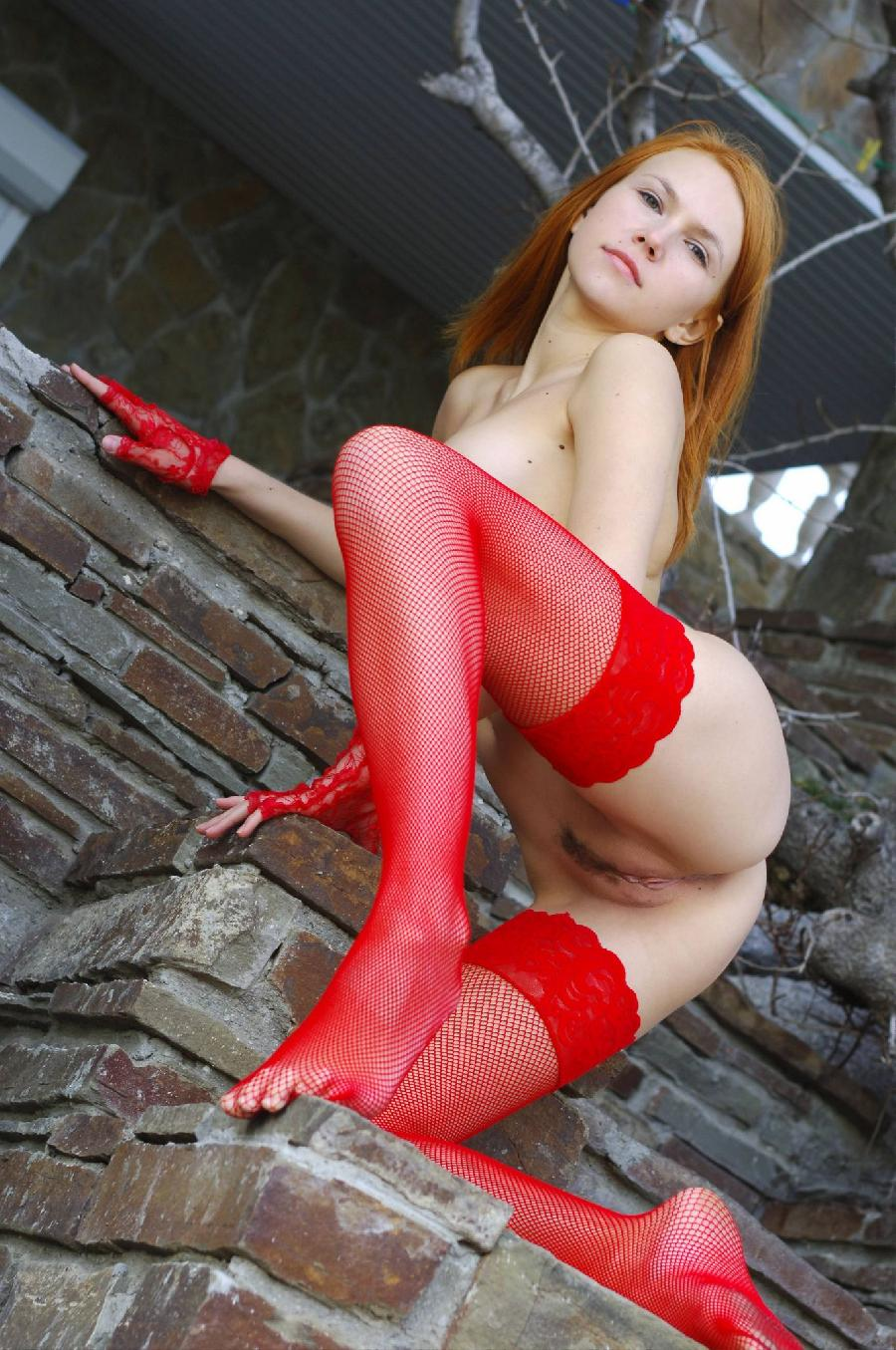Babein red stockings - Lidiya   - 24
