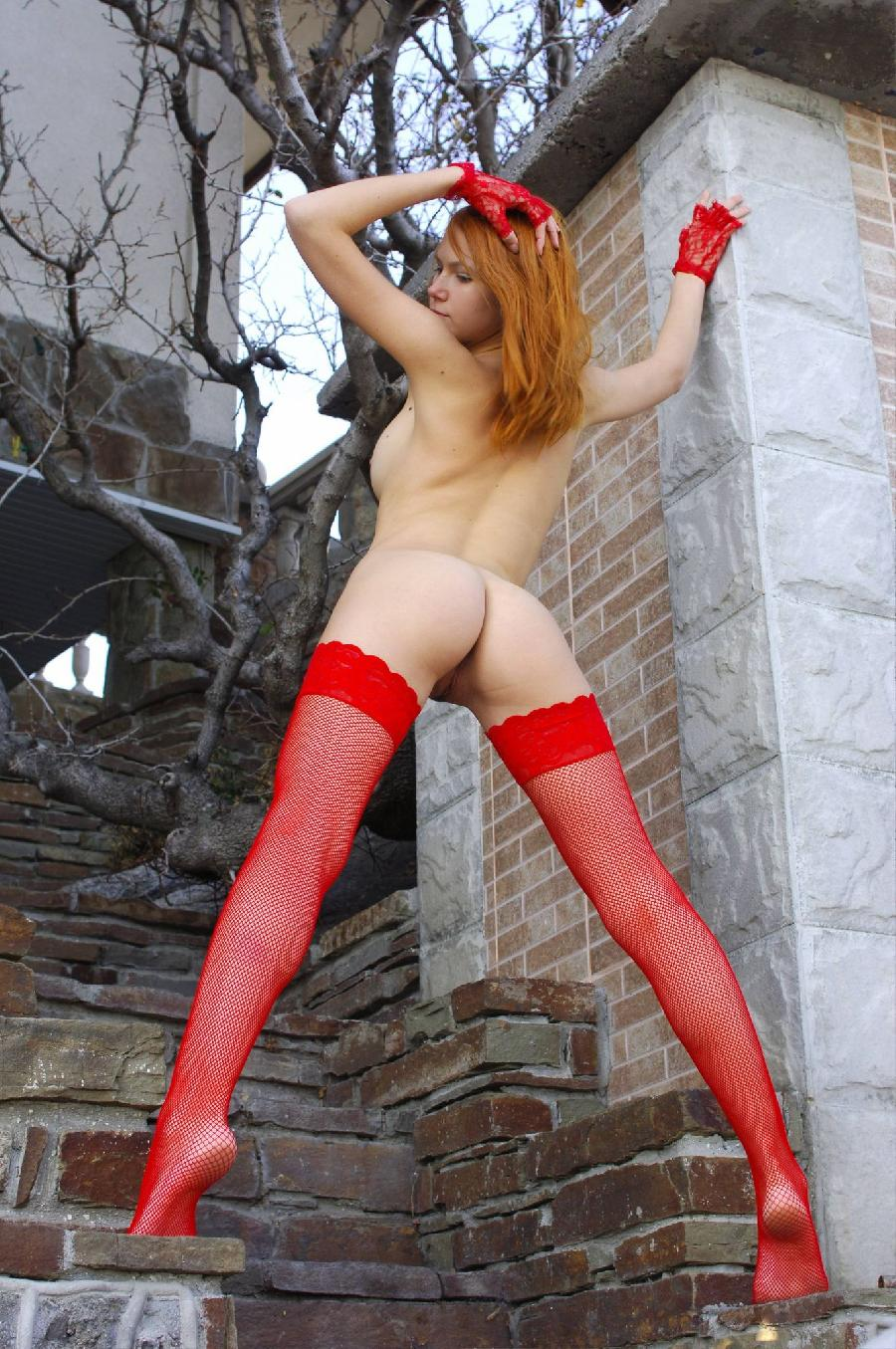 Babein red stockings - Lidiya   - 26