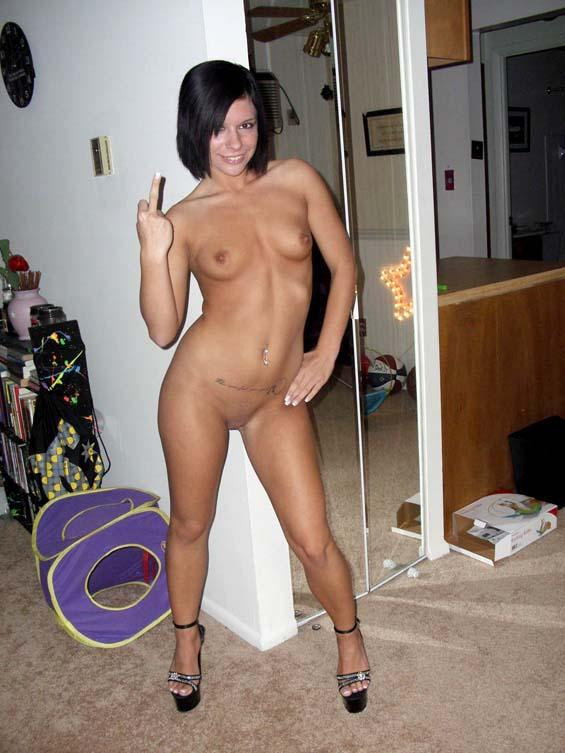 Girl posing nude at home