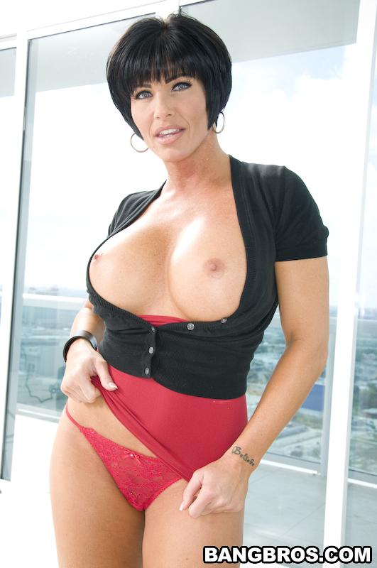 Busty Milf With Gun Shay Fox Makes Big Dicked Man Fuck Her