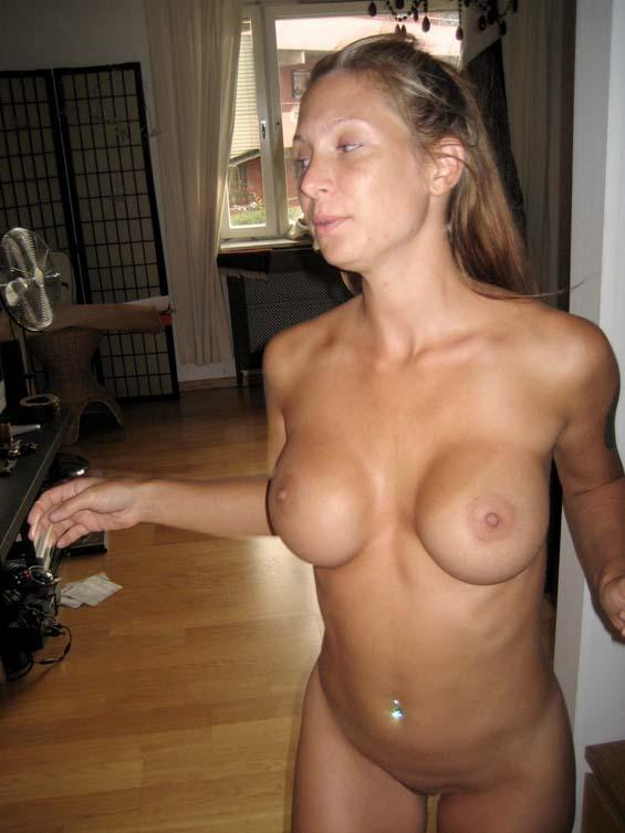 Petite wife showing off in the nude  - 7
